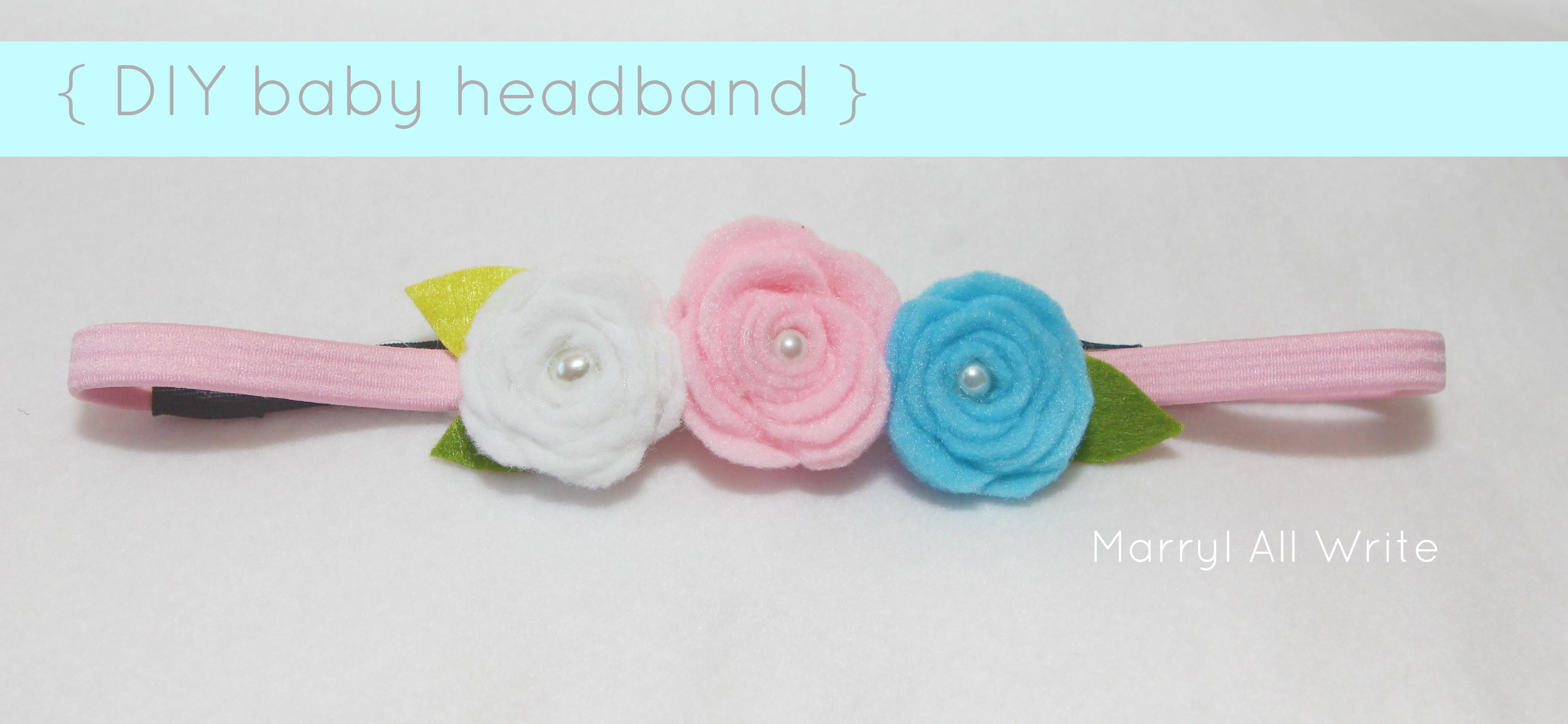 DIY Baby Headband  59ff723fdd1