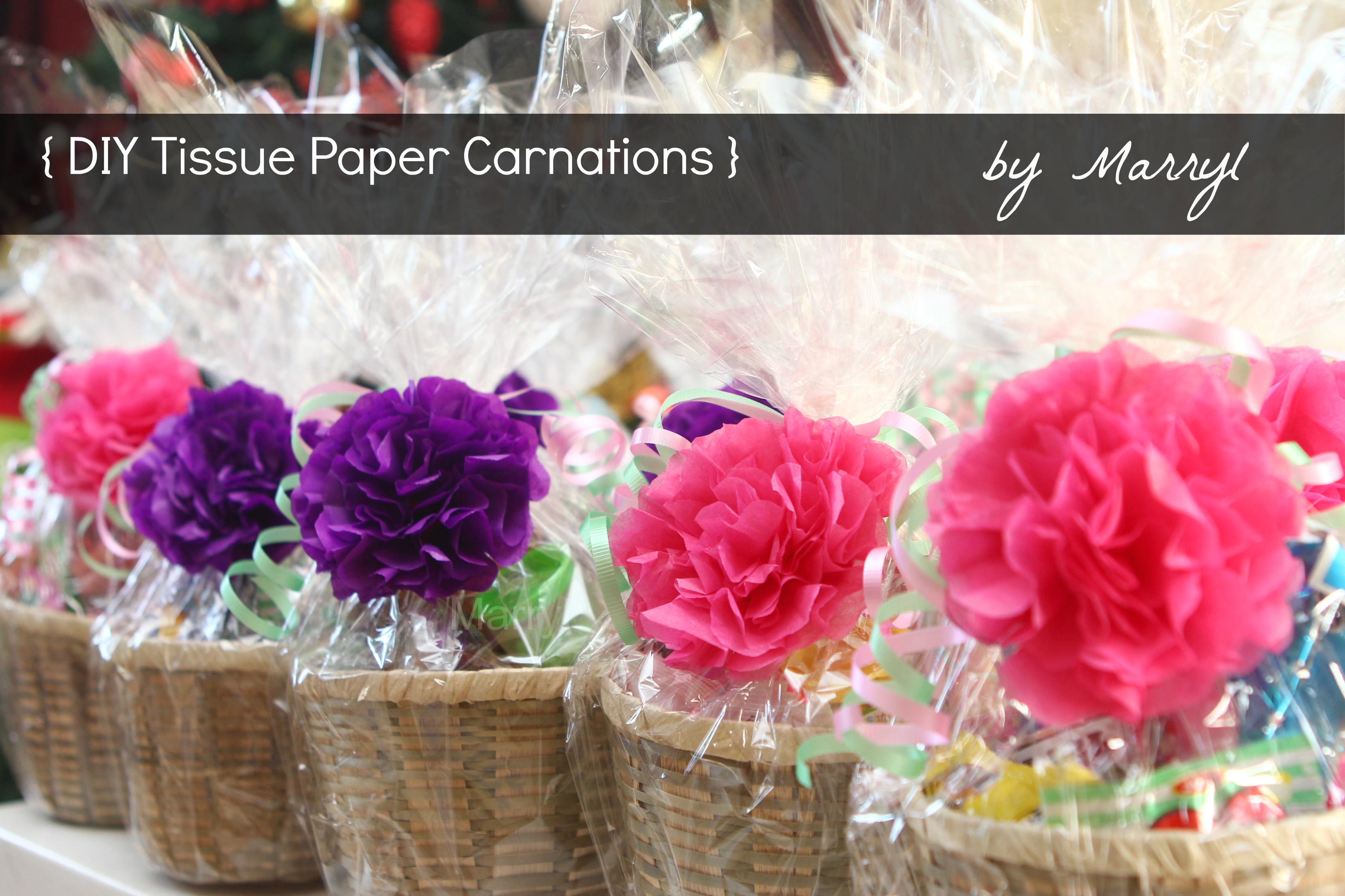 Diy Tissue Paper Carnations Marryl Crafts